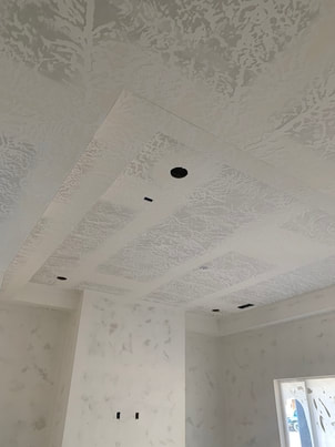 drywall finished and taped on house ceiling
